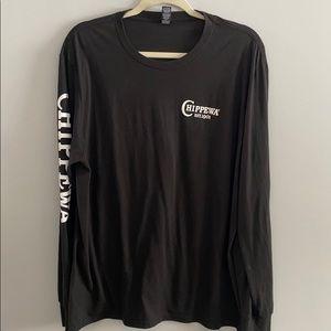 Chippewa Long sleeve black T shirt XL like new EUC